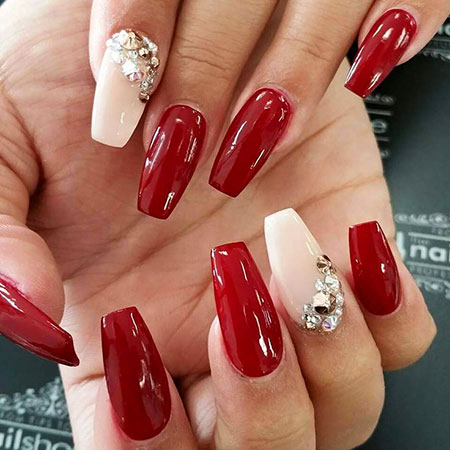 Red Acrylic Nude Gems