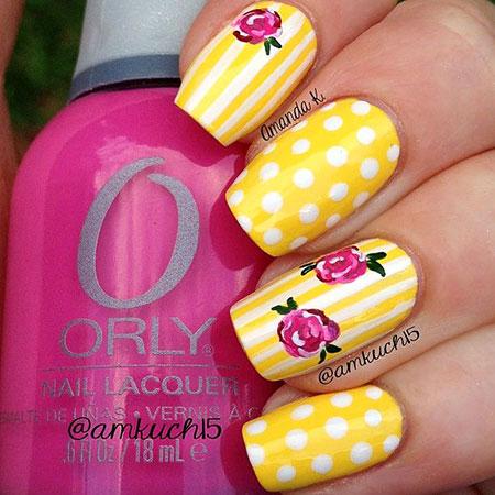 Yellow Photo Cute Stripes
