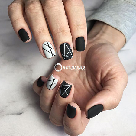 Geometric Manicure Love Colors