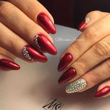 Red Manicure Two Hot