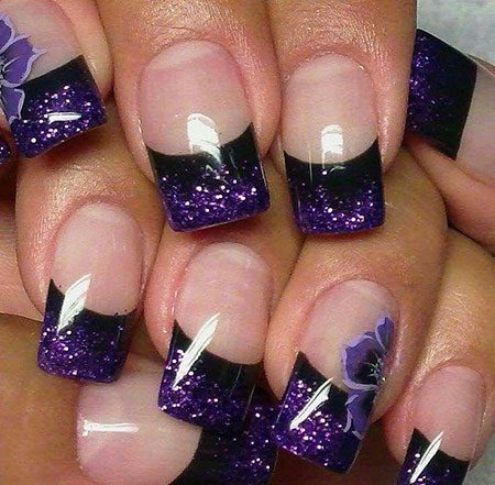 Purple French Trendy Acrylic