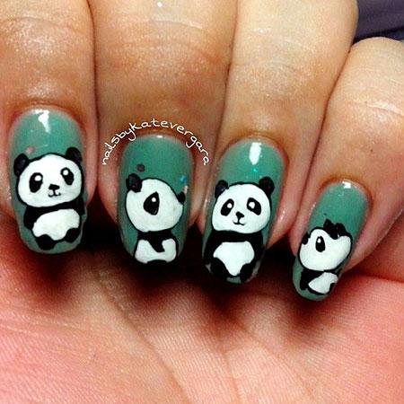 Panda Pedicure Manicure Halloween