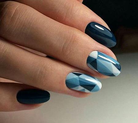 Winter Modern Manicure Geometric