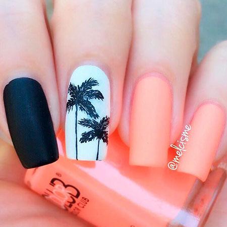 Tropical Nail Art, Summer Tropical Colorful
