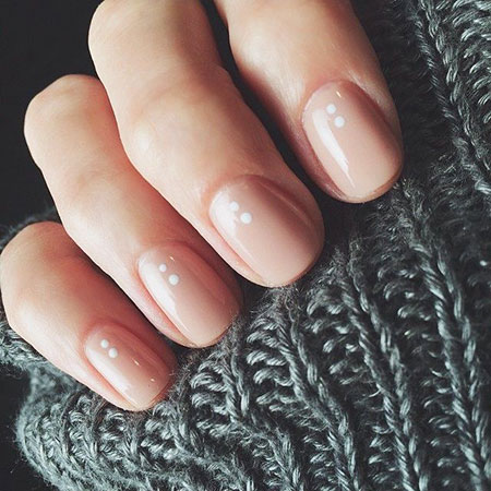 Natural Short Nails, Gel Nude Simple Manicure