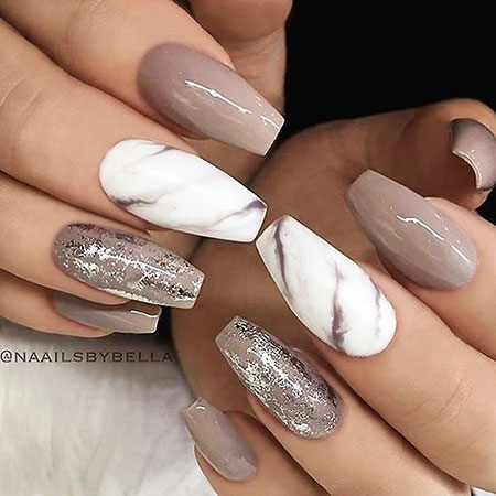 Acrylic Nails Marble, Acrylic Nude Best Trend
