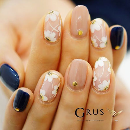 Korean Nail Art for Spring, Chic Styles Different Gel