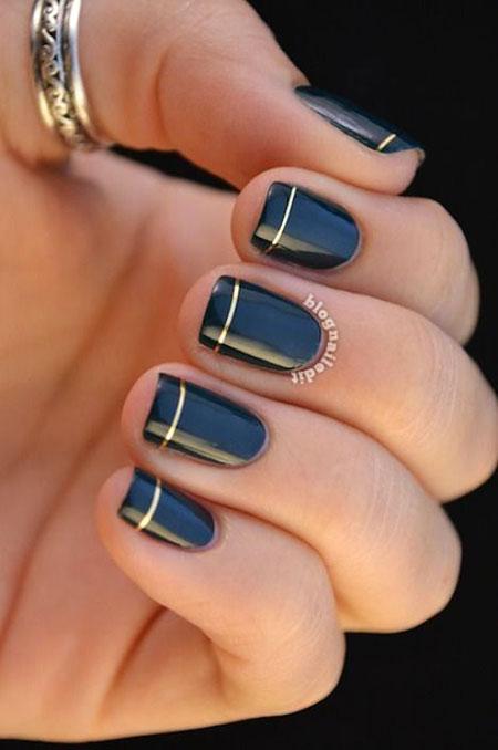 Classy Short Nail Art, Manicure Modern Pretty Fall