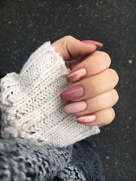 Natural Pink Colored, Manicure Pink Colors Manikúra