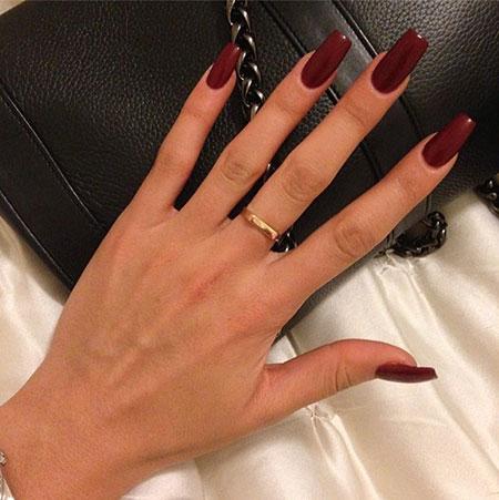 Dark Red, Nude Dark Manicure Red