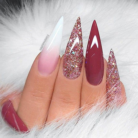 Stiletto Nail Design, Coffin Soft Pink Inspired