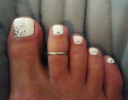 Rhinestones for Toenails, Toe Toes Wedding Rock