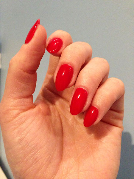 Red Almond Manicure Classy