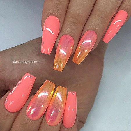 Coffin Pink Coral Ombre