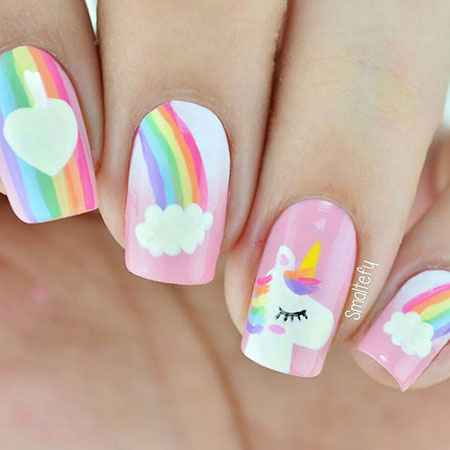 Manicure Floweral Summer Easter