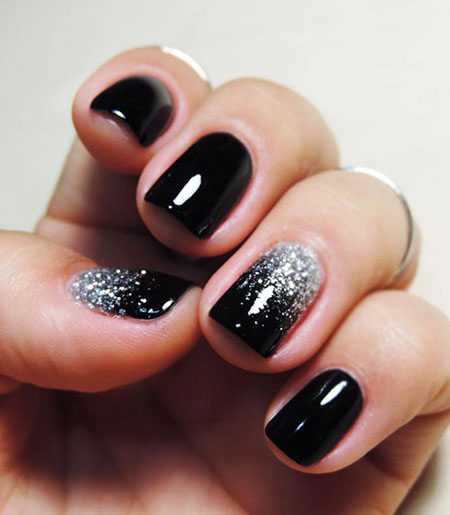 Glitter Easy Black Ombre
