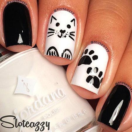 Cat White Black Halloween