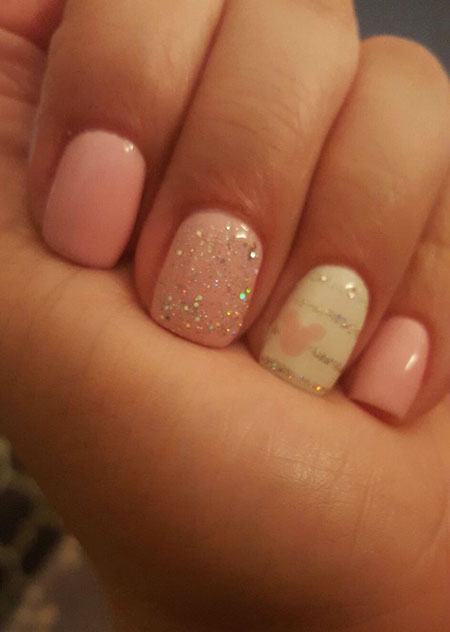 Pink Disney Gel Glitter