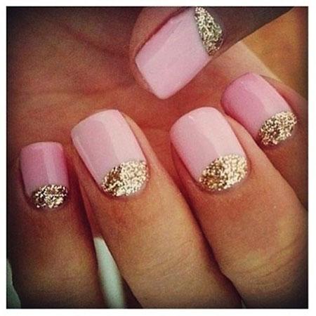 Glitter Gold Pink Moon