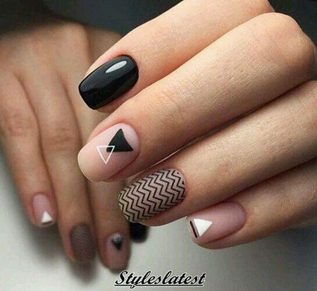 Manicure Modern Geometric Педикюр
