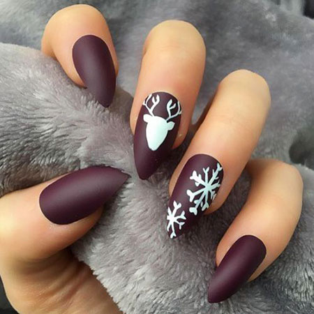 Popular Winter Nail Colors 2018, Winter Manicure Ideas Fashion