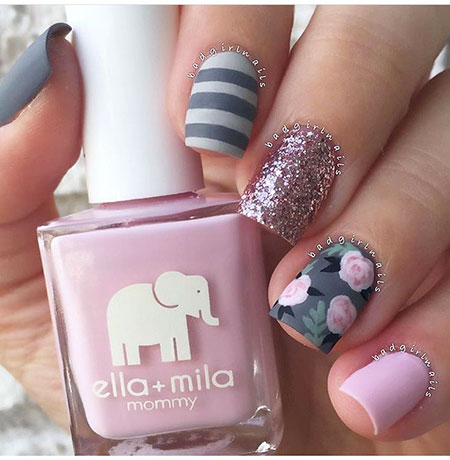 Pink Grey Beach Pastel