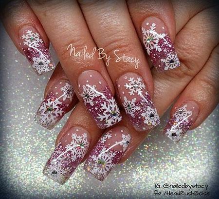 Pink Snowflake Christmas Acrylic