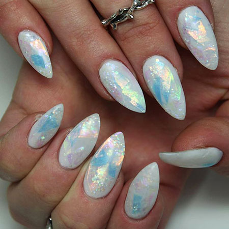 White Matte Stiletto Ideas