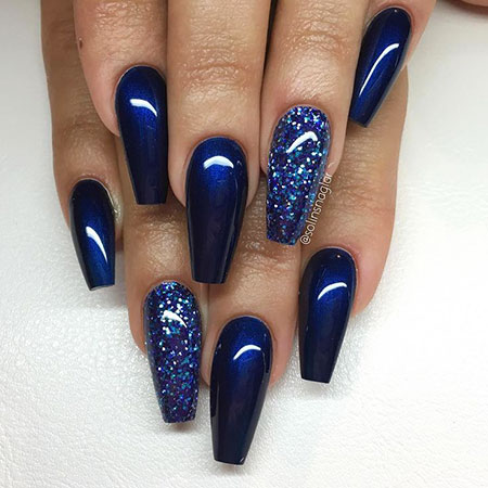 Blue Glitter Beach Color