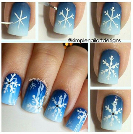 Snowflake Christmas Winter Gradient