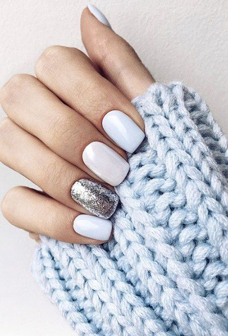 Ideas White Manicure Winter