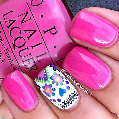 Skull Polish Hot Pink