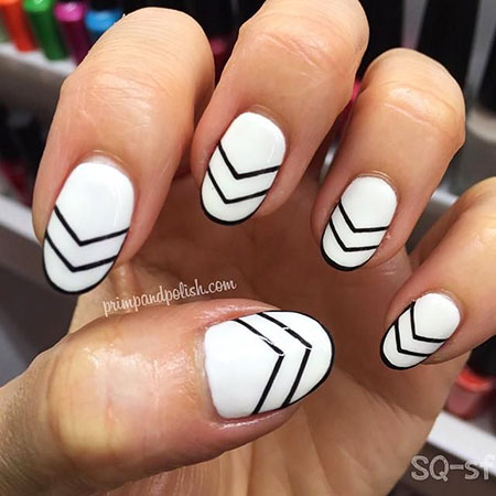 Music White Note Manicure