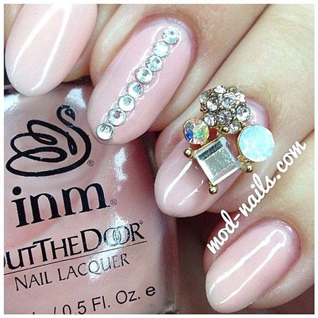 3D Pink Rhinestones Pretty