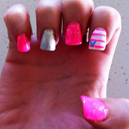 Pink Hot Neon Glitter