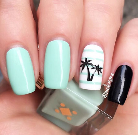 Tree Mint Manicure Tropical