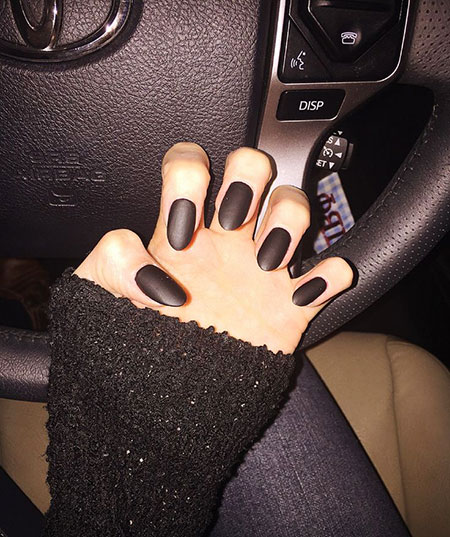Matte Black Almond Shaped
