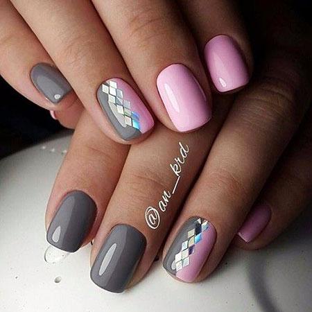 Manicure Grey Pink