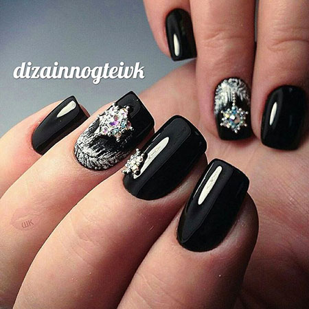 Manicure Pictures Snowflake Black