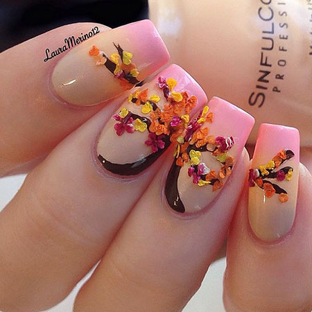 Manicure Leaf Tree Pink