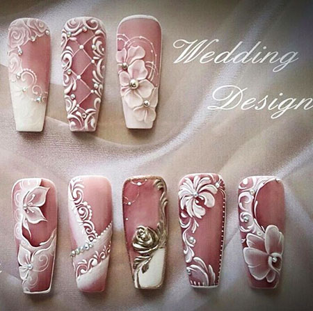 3D Flower Wedding Acrylic