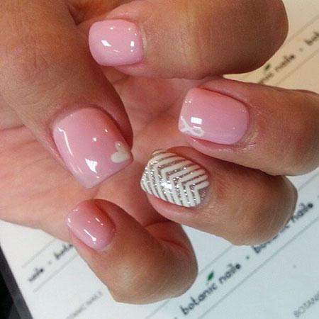 Pink Shellac Manicure Cute