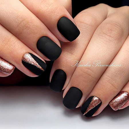 Manicure Black Matte New