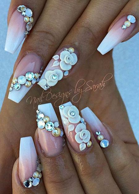 3D Paint White Floral