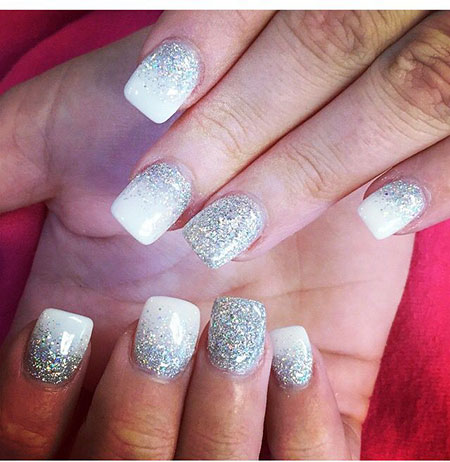Glitter Silver White Ideas
