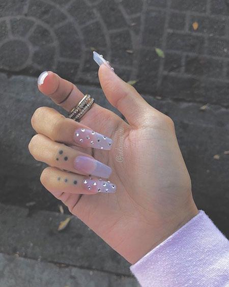 Long Cute Acrylic Ongles