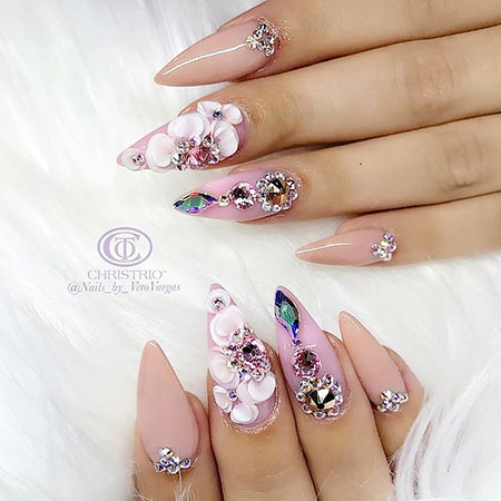 Glitter Ongles Unghie Stiletto