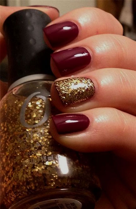 Cute Glittered Nails, Fall Ideas Black Christmas