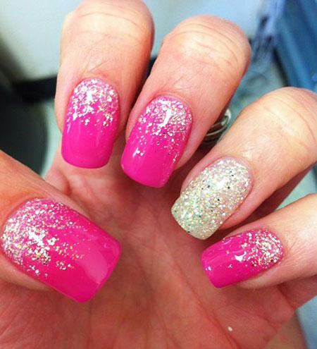 Pink Glitter Gel Hot