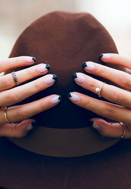 Simple Geometric Nail Style, Manicure Short Classy Unique